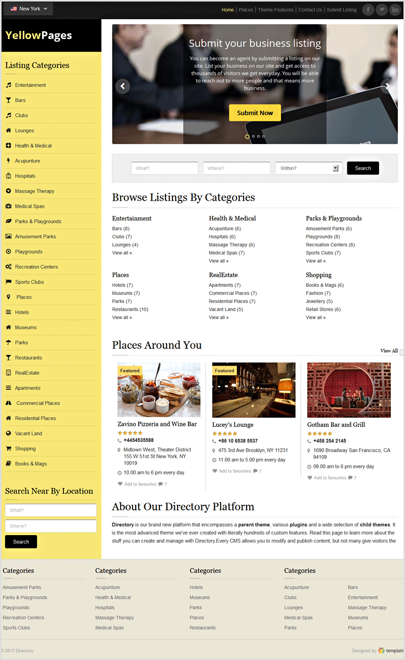YellowPages Responsive Child Directory Theme