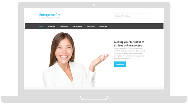 Brand Your Company Name with Enterprise Pro Theme