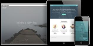 Port WordPress Parallax Home Page Theme