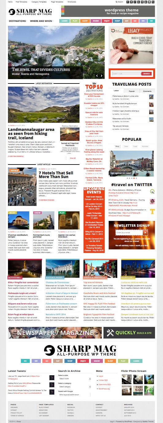 Sharp Magazine Responsive Theme – Wpchats.com