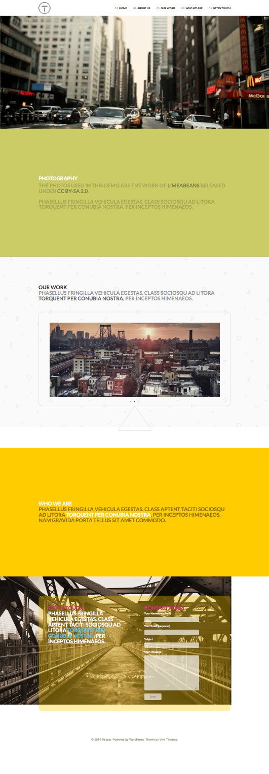 Telesis Parallax Effect Business Theme – Wpchats.com