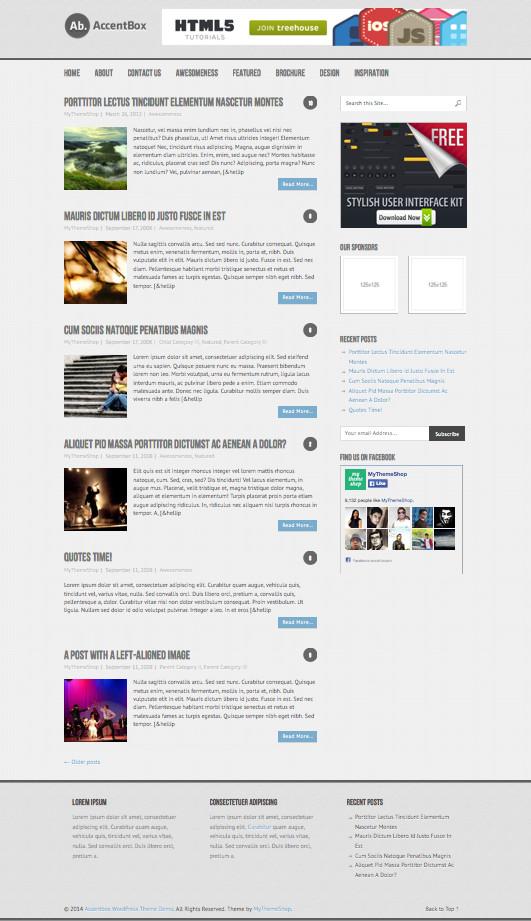 AccentBox Free Responsive WP Blog Theme