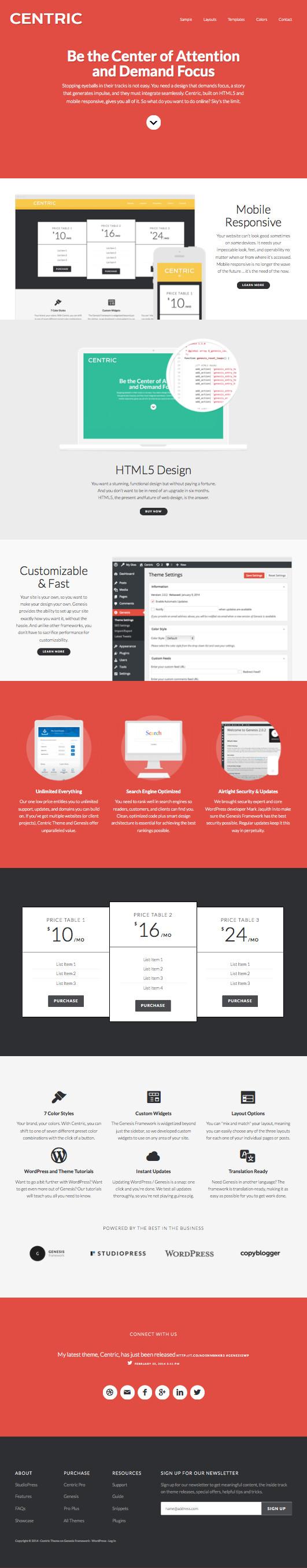 Centric Pro Web Designer Theme by Wpchats.com