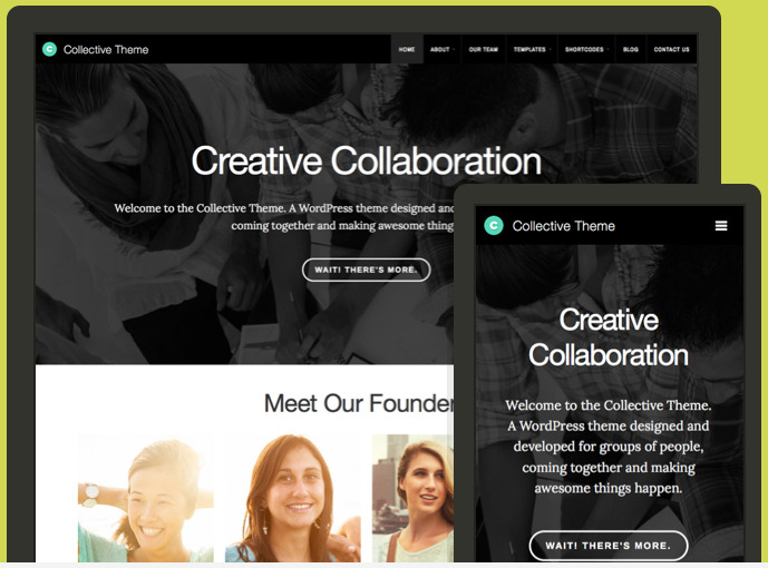 Collective WordPress Company Staff Theme