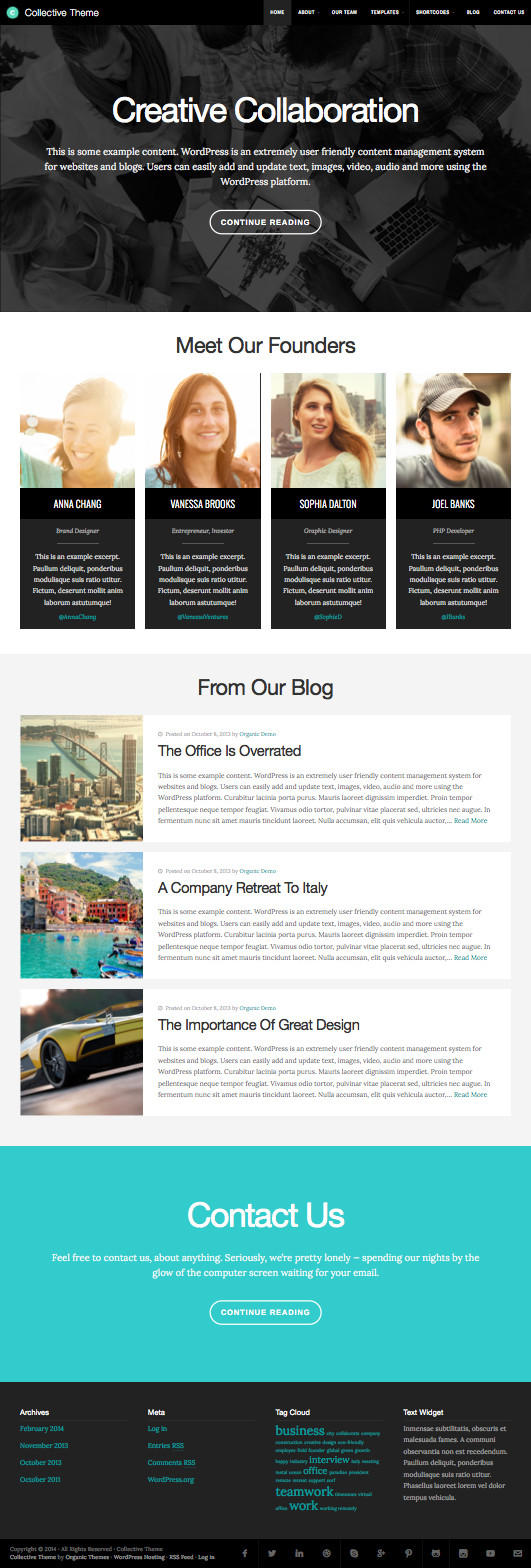Collective WordPress Teams Member Theme