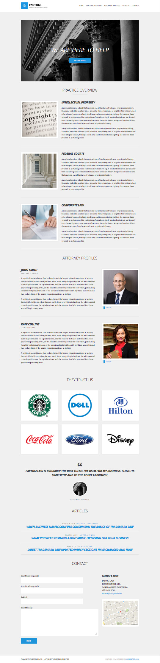 Factum WordPress Law Firms Business Theme