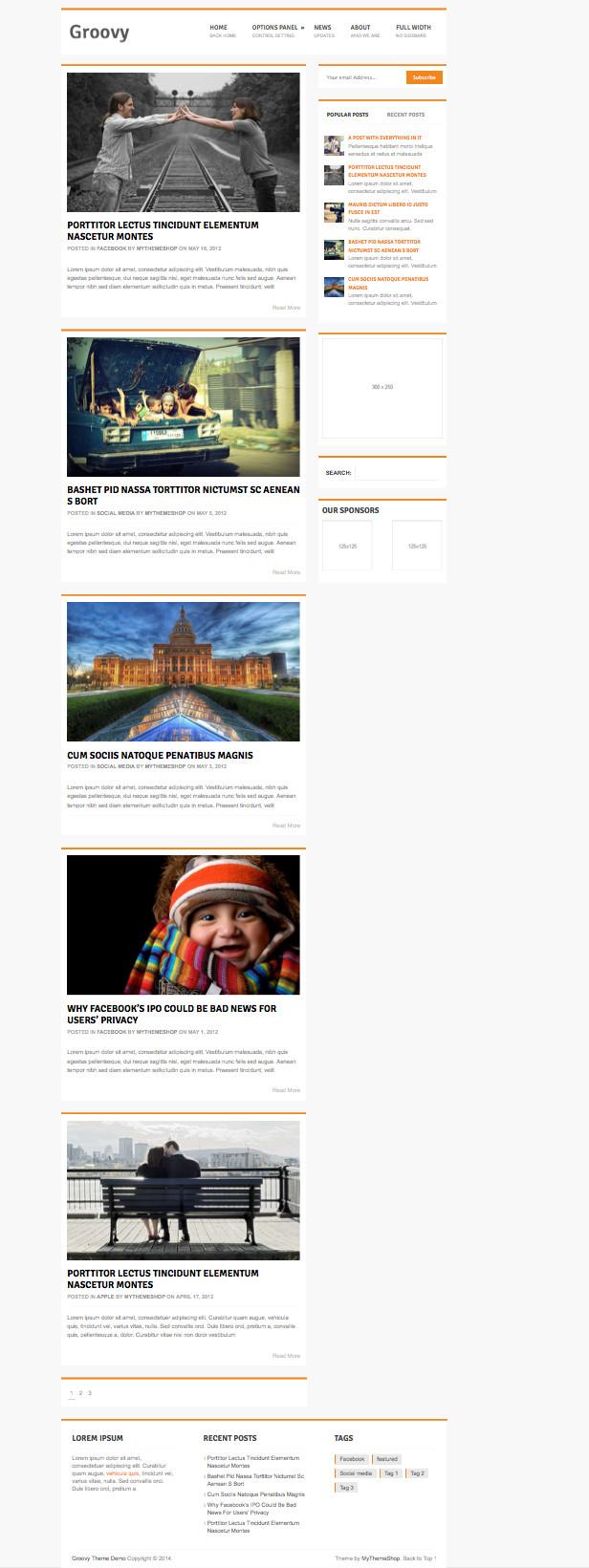 Groovy Free WordPress Magazine Style Theme