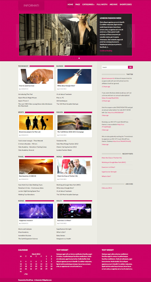 Informati WordPress News Magazine Theme