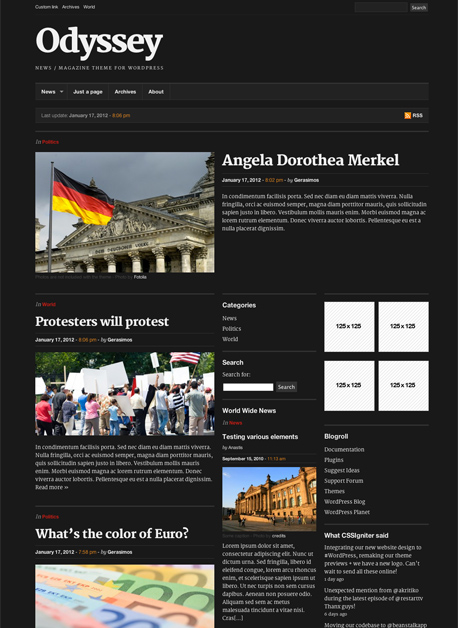 Odyssey WordPress News Portal Theme