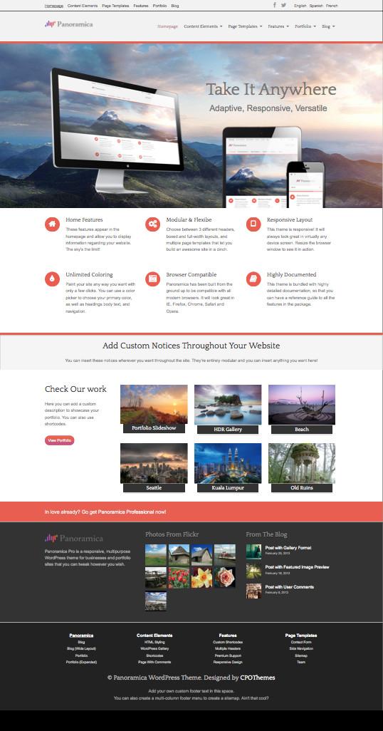 Panoramica Pro WordPress Portfolio Theme
