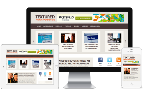 Textured Responsive WordPress Blog Theme
