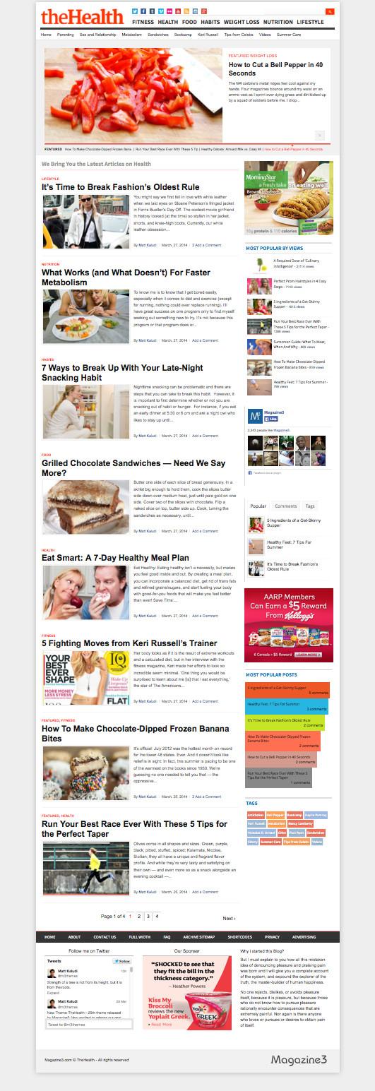TheHealth WordPress Lifestyle Magazine Theme