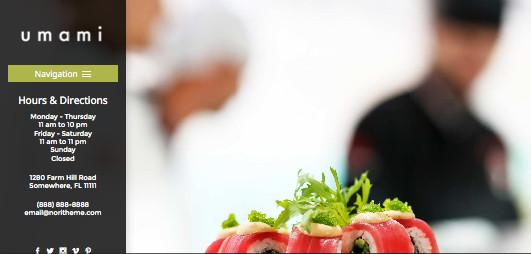 Umami Responsive WordPress Food Theme
