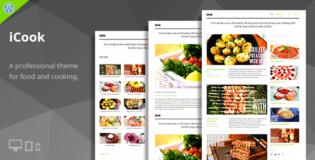 iCook WordPress Recipe Tips Theme
