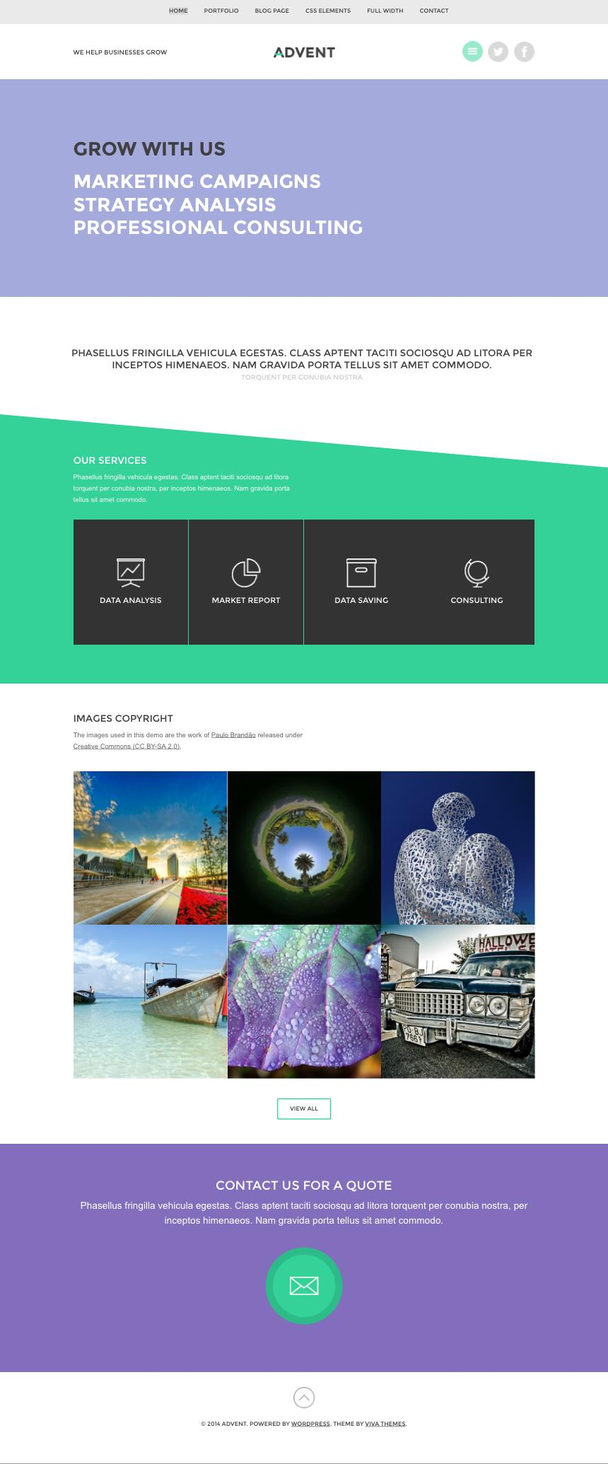 Advent WordPress Business Portfolio Theme