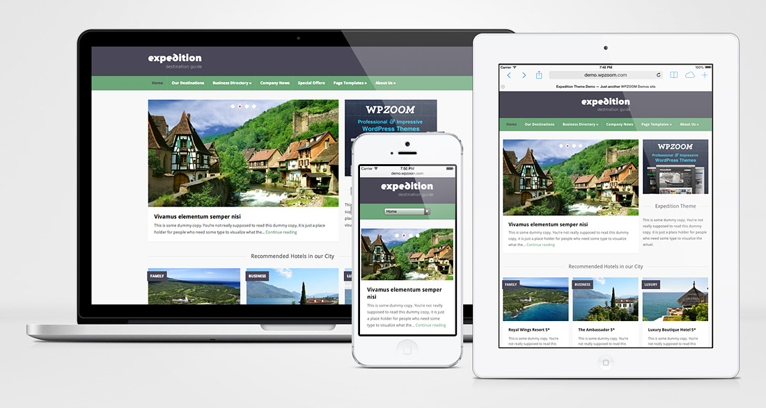 Expedition – City Directory & Travel Agencies Theme