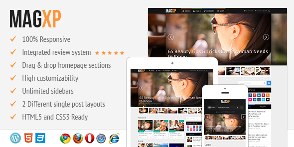 MagXP WordPress Ultimate Magazine Portal Theme