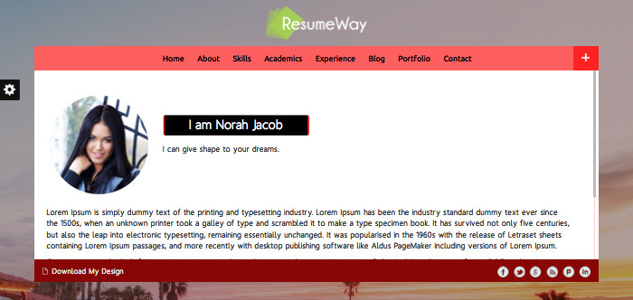 ResumeWay Business WordPress Theme For Architect