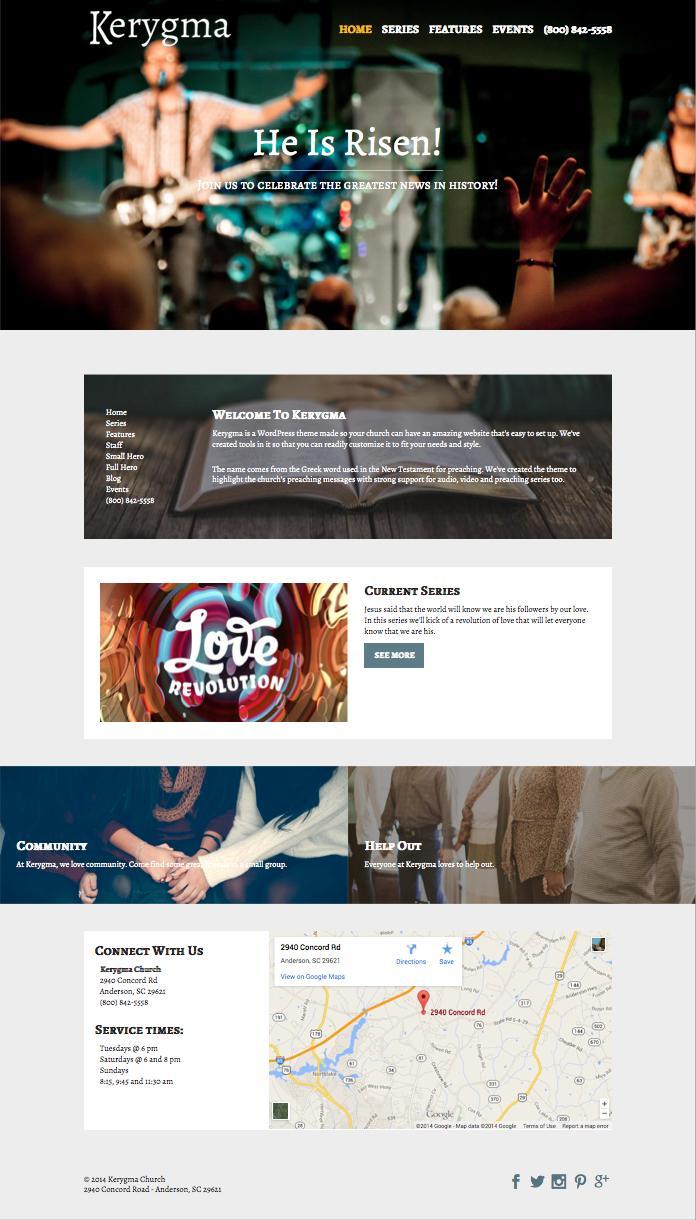 Kerygma WordPress Non Profit Organization Theme