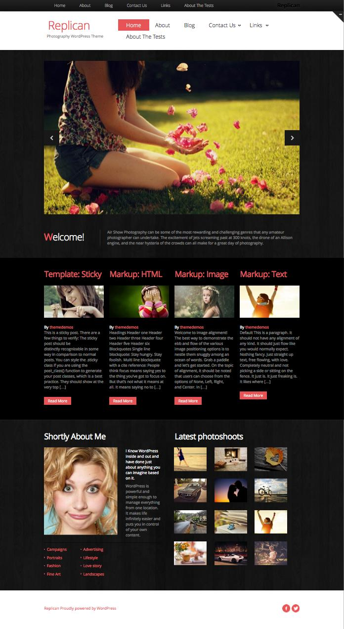 Replican – Free Modern Responsive Photography Theme