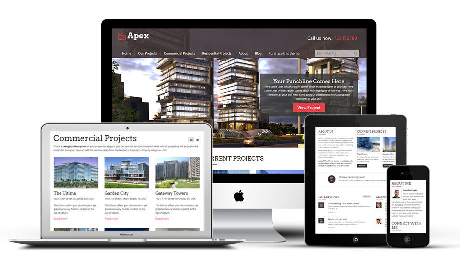 Apex Responsive WordPress Properties Theme