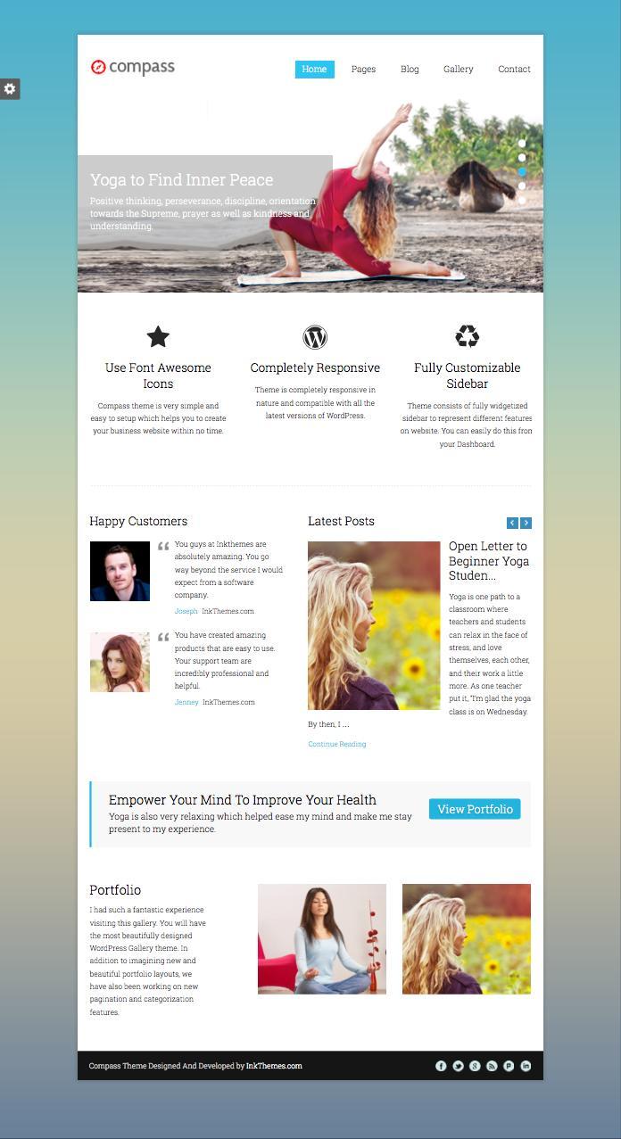 Compass WordPress Visual Scrolling Theme
