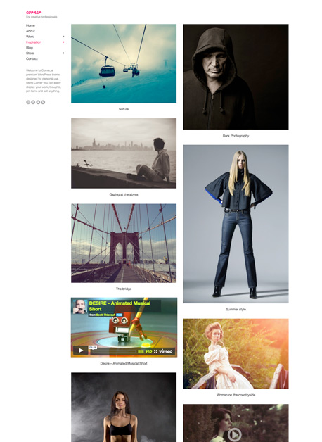 Corner WordPress Creative Professionals Theme