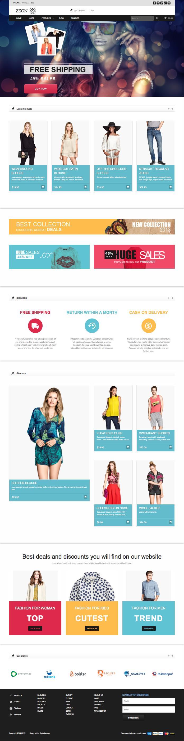 Zeon WordPress Online Store, eShop Design Theme