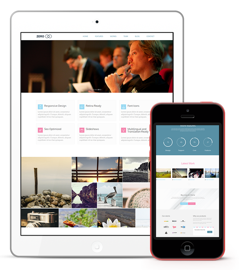 Zero WordPress Responsive Agency Theme