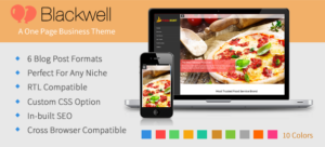 BlackWell WordPress Single Page Theme