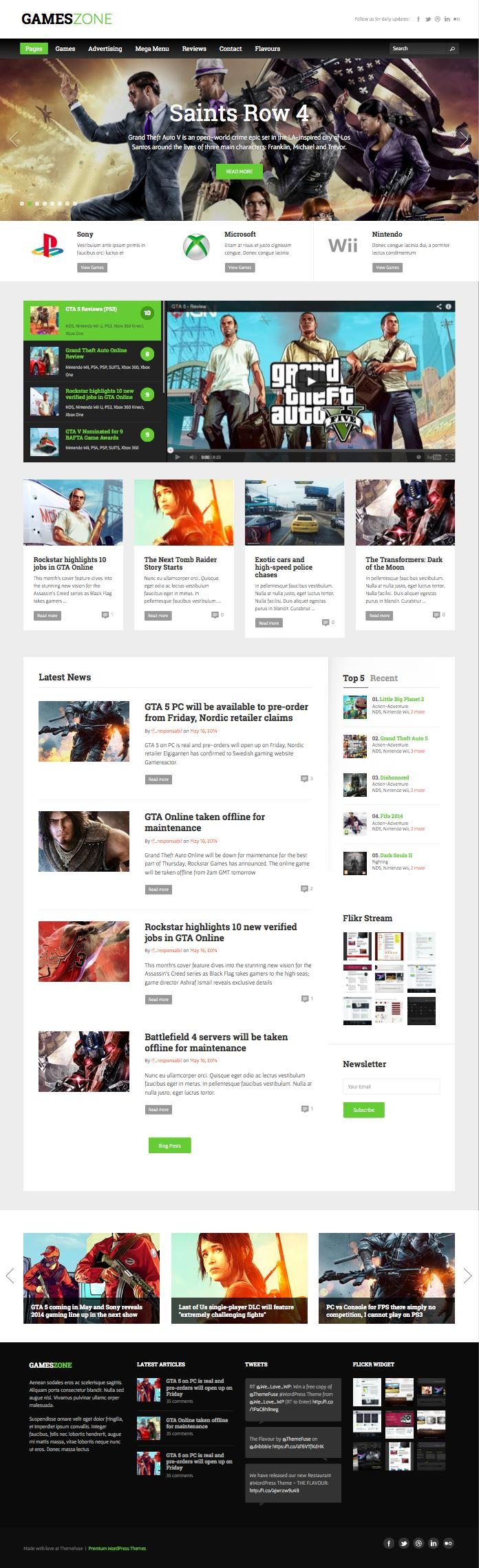 GamesZone WordPress Game Magazine Theme