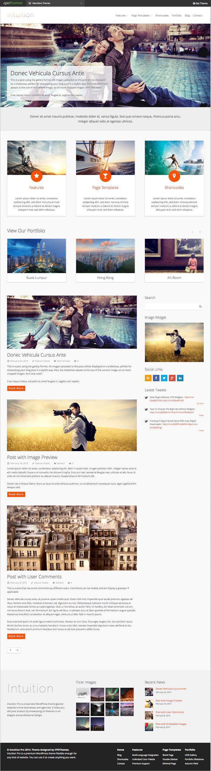 Intuition Pro WordPress Freelancer Theme
