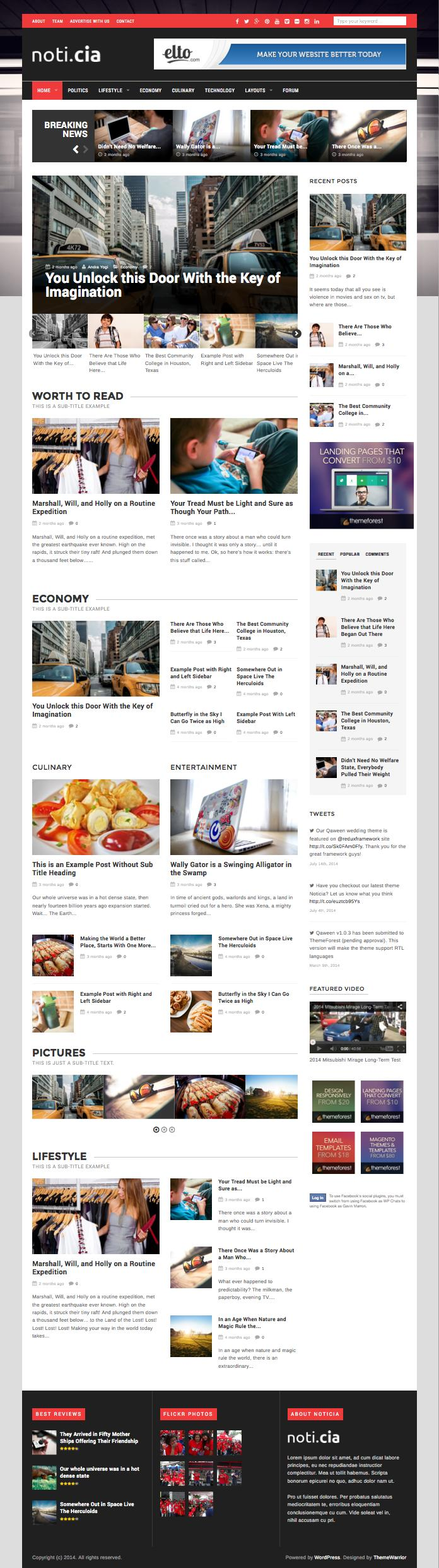 Noticia WordPress News Style Theme