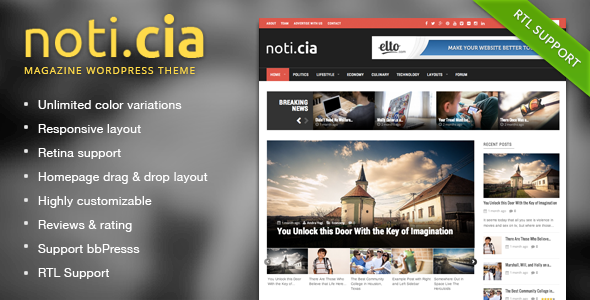 Noticia WordPress Responsive Magazine Style Theme