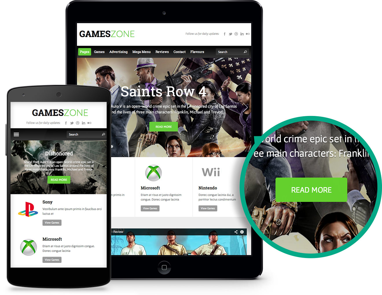 Responsive GamesZone WordPress Gaming Theme