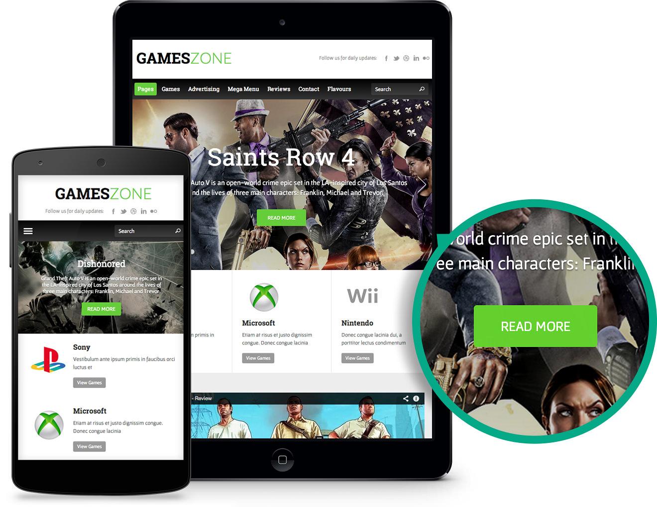 Responsive GamesZone WordPress Gaming Theme