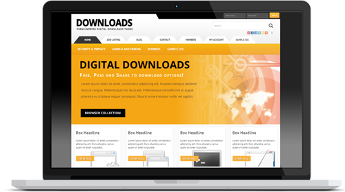 Responsive WordPress Software Downloads Theme