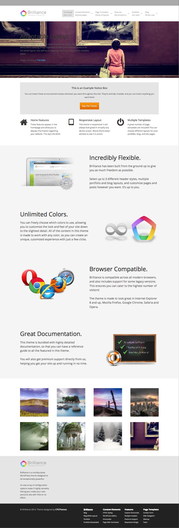 Brilliance Multipurpose WordPress Business Theme