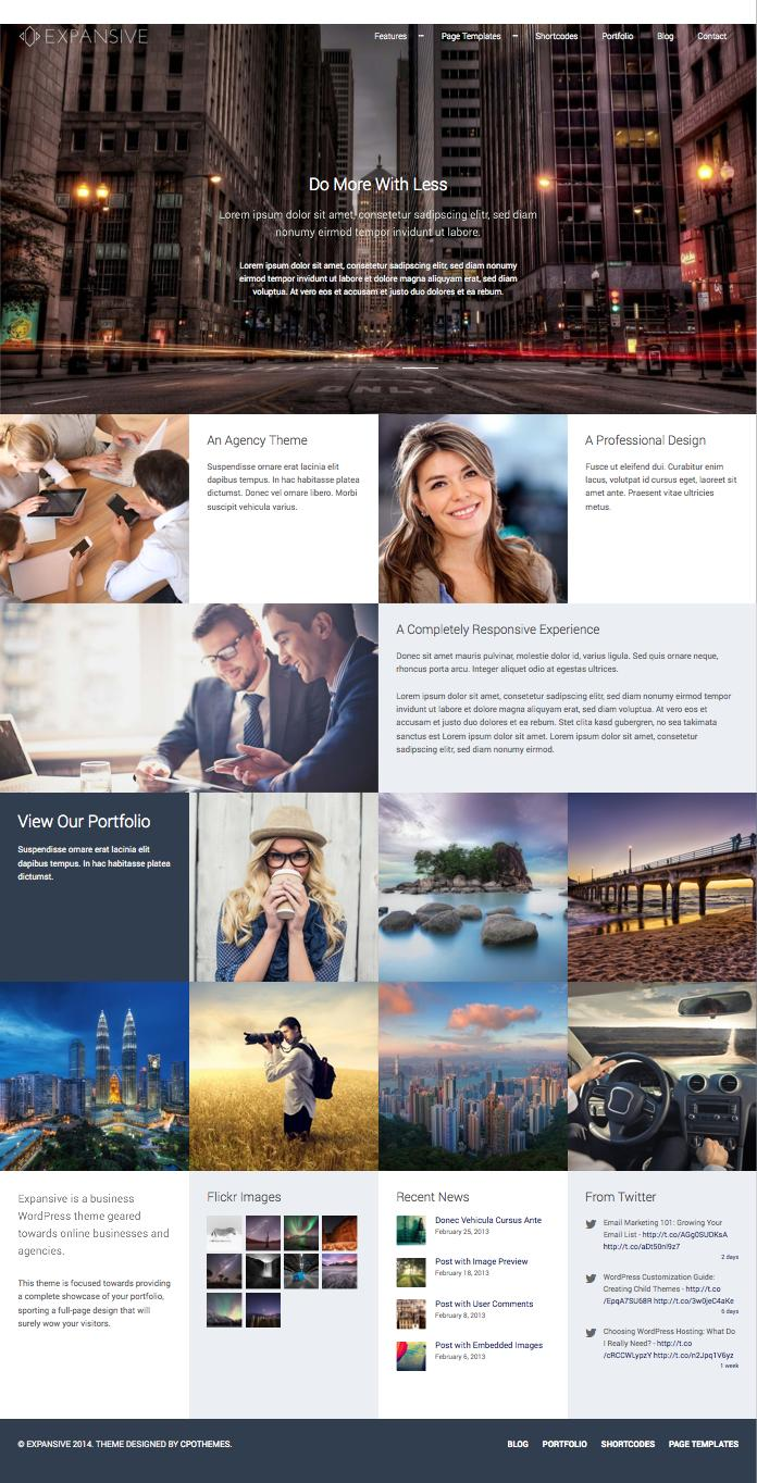 Expansive WordPress Full Screen Agency Theme