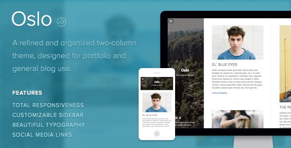 Oslo WordPress Portfolio & Blog Use Theme