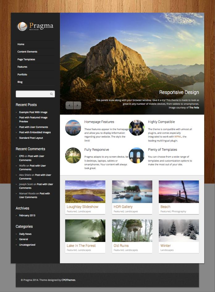 Pragma WordPress Showcase Portfolio Theme