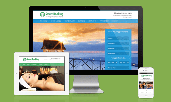 SmartBooking Responsive WordPress Yoga Center Theme