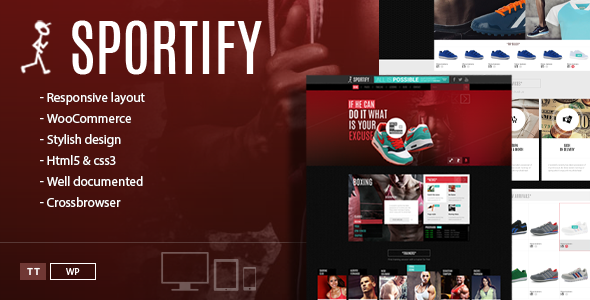 Sportify Responsive WordPress Gym Fitness Theme