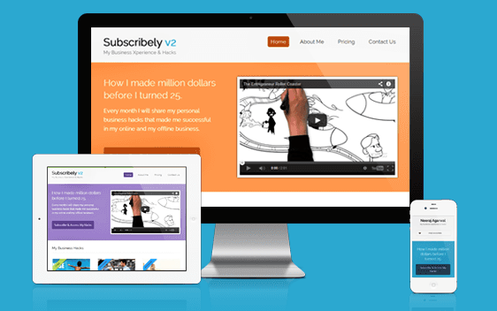 Subscribely v2 Responsive WordPress Membership Theme