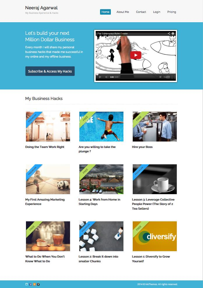 Subscribely v2 WordPress Membership Site Theme