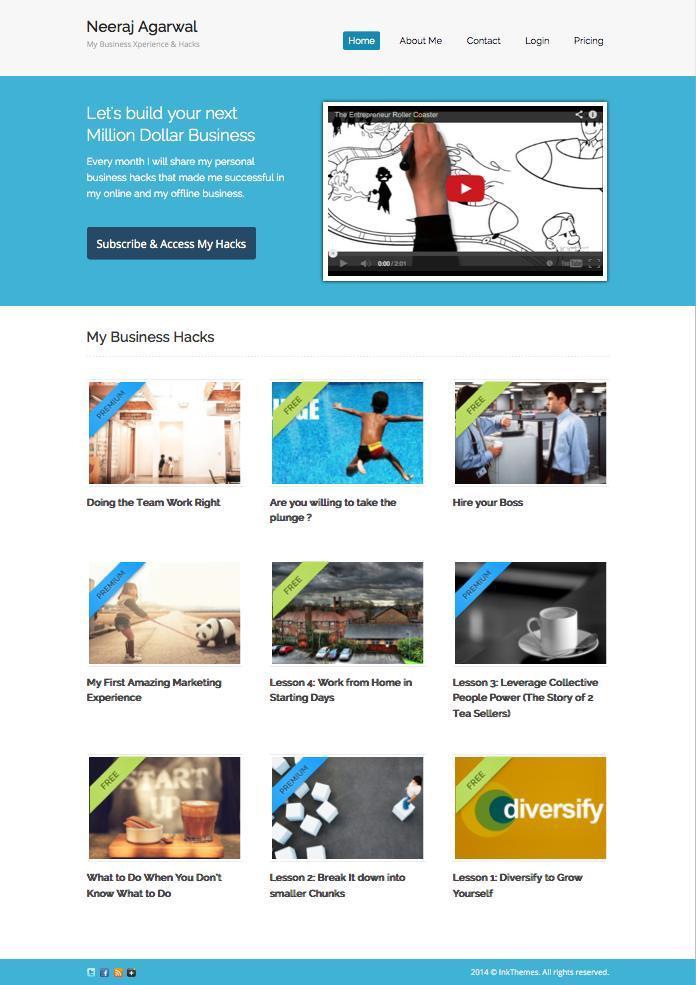 Subscribely v2 WordPress Membership Site Theme