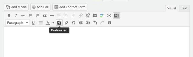 Upgraded Post Editor