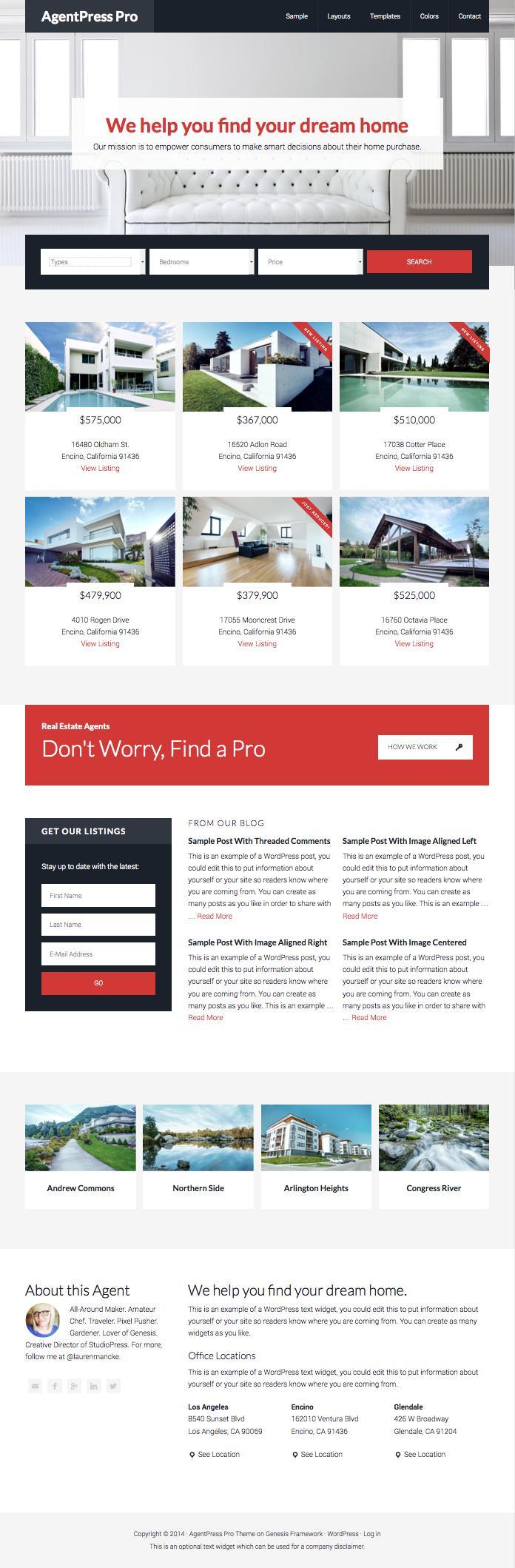 AgentPress Pro WordPress Real Estate Theme
