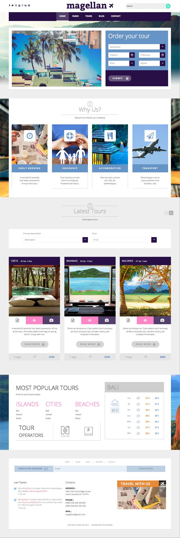 Magellan WordPress Travel Theme