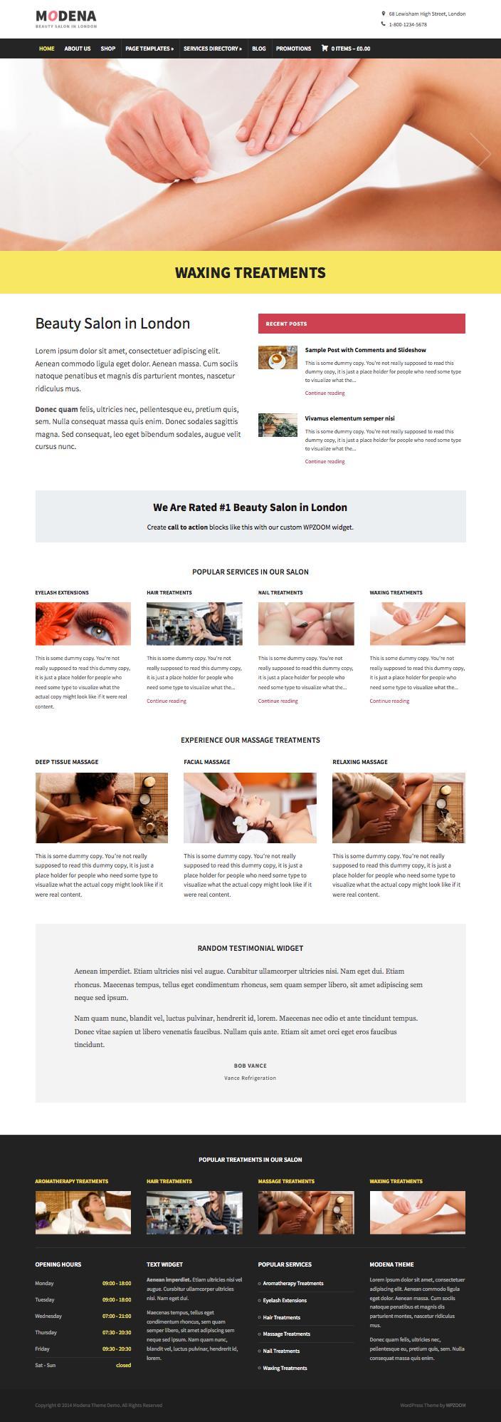 Modena Responsive WordPress Business Theme